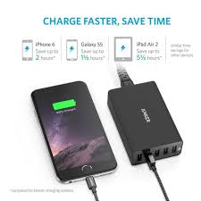 amazon com anker 5 port desktop usb charger with poweriq