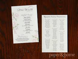 wedding ceremony program paper vintage inspired wedding ceremony program paper and home