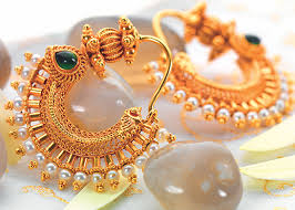 design of gold earrings ear tops buy gold earrings in pune p n gadgil and sons