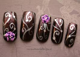 purple rose fantasy nails nevertoomuchglitter nail wonderland