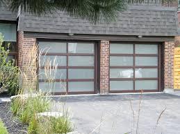 8x7 haas brown frosted glass doors modern garage doors