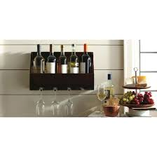 5 bottle wine and glass holder threshold target