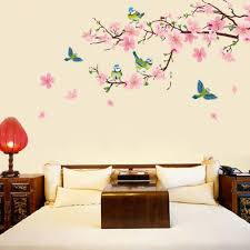 popular swallow wall stickers buy cheap swallow wall stickers lots pvc removable room decal art wall sticker romantic peach blossom and swallow living room bedroom wall