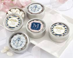 nautical wedding favors personalized nautical wedding silver candy tin set of 12