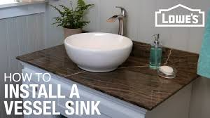 discount bathroom countertops with sink how to install a vessel sink youtube