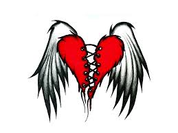 the flying wings of broken heart tattoos tattoomagz