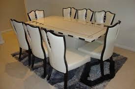 chair large round oak dining table 8 chairs eight seati dining
