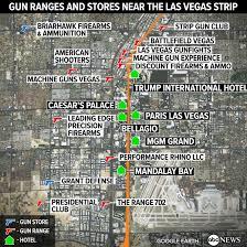 Las Vegas Strip Map Inside The Vegas Gun Culture That Sits Right On The Strip Next To