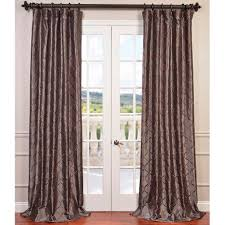 Faux Silk Embroidered Curtains Eff Tunisia Embroidered Faux Silk Curtain Panel Smoke 84l Grey