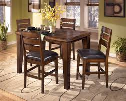 High Dining Room Tables And Chairs Counter Height Dining Sets With Hardwood Dining Table In