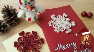 christmas card surprise everybody with a hand made quilling card