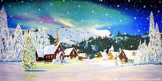 christmas village backdrop backdrops fantastic events with a