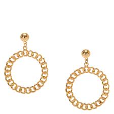 gold circle earrings gold circle drop earrings s us