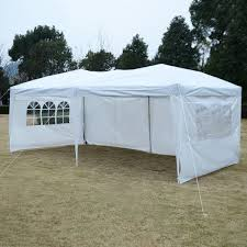 10 X 20 Shade Canopy by 10 U0027 X 20 U0027 Total Iron Folding Wedding Tent With Cloth Canopies