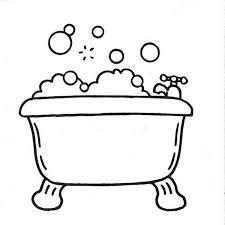bathtub bubbles bath coloring pages bathtub