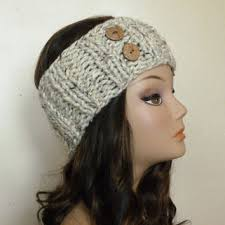 knitted headband shop knit headband with buttons on wanelo