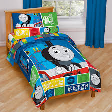 Thomas The Tank Engine Bedroom Furniture by Amazon Com Thomas And Friends 4 Piece Toddler Bed Set Home U0026 Kitchen