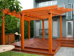 Deck With Pergola by How To Stain A Wood Pergola Best Deck Stain Reviews Ratings