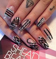 149 best black nails images on pinterest black nails nail art