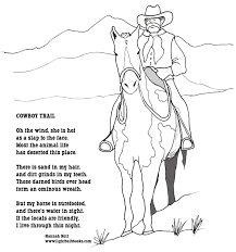lightbulb books cowboy coloring page