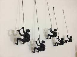 gifts for home decoration 5 piece climbing sculpture wall art gift for home decor interior