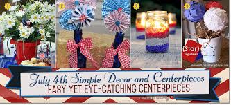 july 4th decorations simple diys for july 4th table decorations and centerpieces