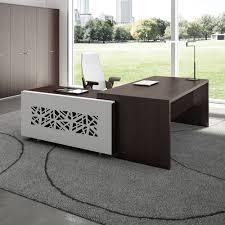 bureau couleur wengé t desk 04 bureau directionnel avec meuble de rangement en métal
