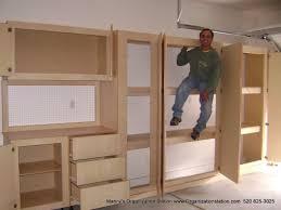 Garage Storage Cabinets Built In Garage Cabinets Build A Wooden Box Best Garage Storage