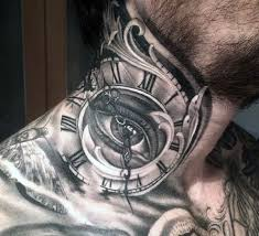 the 25 best mens neck tattoos ideas on s side