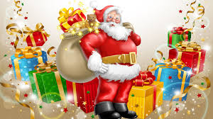 santa claus happy new year and merry christmas gifts for children
