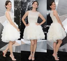 swan dress marion cotillard in swan dress and max spike sandals