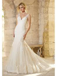 mori wedding dress mori 2773 lace straps fitted wedding dress light gold