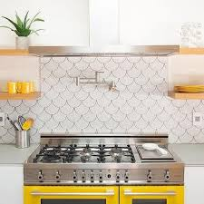 backsplash for yellow kitchen yellow and gray backsplash tiles design ideas