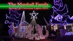 christmas lights wichita ks the marshall family christmas lights 2014 set up youtube
