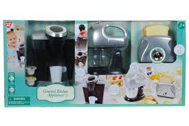 play kitchen appliances home decoration ideas amazon com playgo pretend play gourmet kitchen appliance set single serve coffee maker