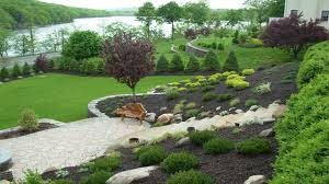Backyard Slope Landscaping Ideas Inspiring Landscape Sloped Back Yard Ideas Backyard Slope Inside