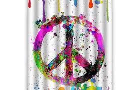 extraordinary amazon com peace sign bathroom accessories set