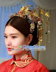 handmade asian classical wedding hair accessories