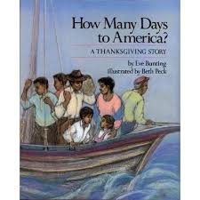 how many days to america a thanksgiving story by bunting