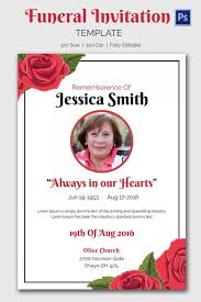 funeral invitation funeral announcement template 15 funeral invitation templates free
