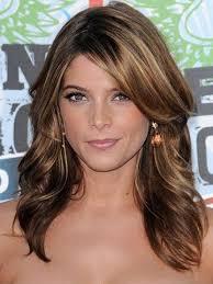 medium length hair with ombre highlights brunette bumping hanger