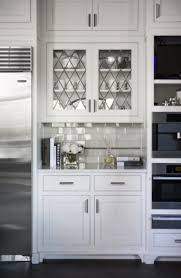 leaded glass cabinet doors transitional kitchen kitchen cupboard