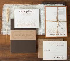 copper wedding invitation burlap boxed wedding invitations