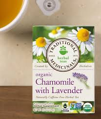 lavender tea chamomile with lavender traditional medicinals
