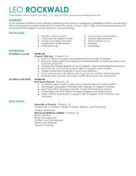 Resume Samples Net by Best Nutritionist Resume Example Livecareer