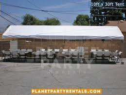 table rental prices party tent 10ft x 30ft prices packages