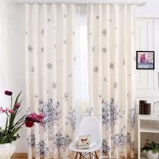 Curtains Floral Country Style Beige Floral Leaf Blackout Curtains Bedroom