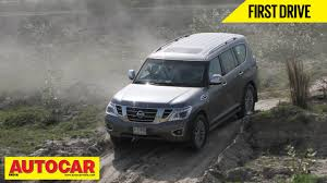 nissan armada 2017 in india nissan patrol first drive video review autocar india youtube