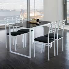 table de cuisine et chaise ensemble de noa table de cuisine verre 4 chaises noir achat