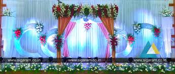 reception and wedding stage decoration at shri janani thirumana